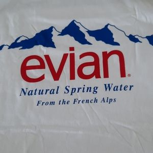 NWOT  Evian White Tee